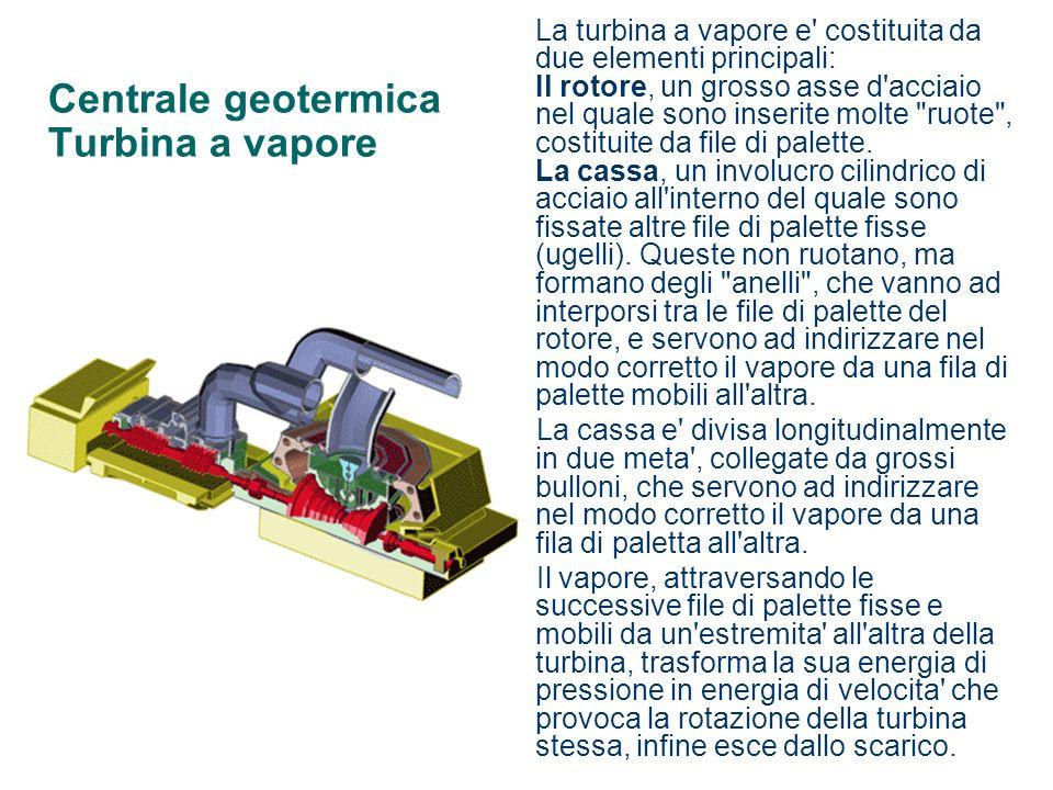 Centrale geotermica Turbina a vapore