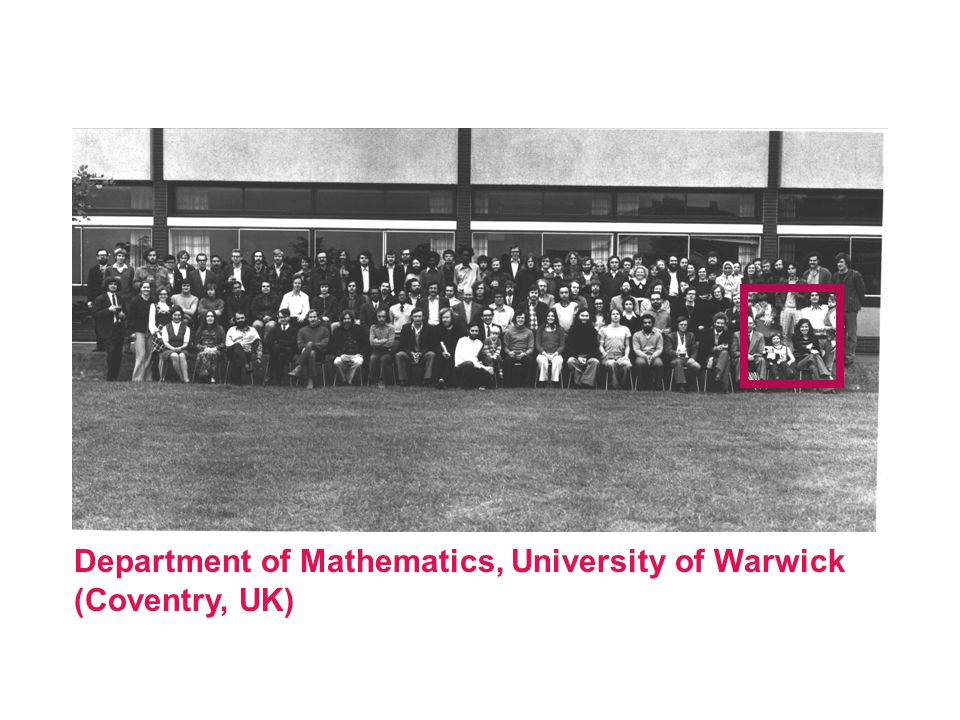 Department of Mathematics, University of Warwick (Coventry, UK)