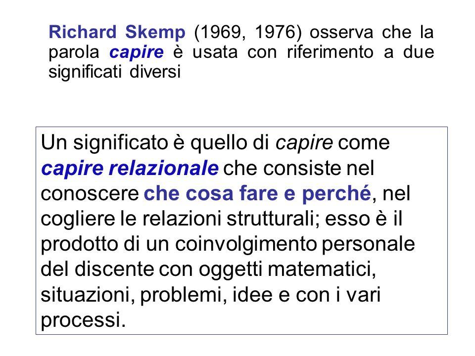 Richard Skemp (1969, 1976) osserva che la parola capire è usata con riferimento a due significati diversi