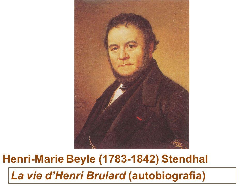 Henri-Marie Beyle (1783-1842) Stendhal