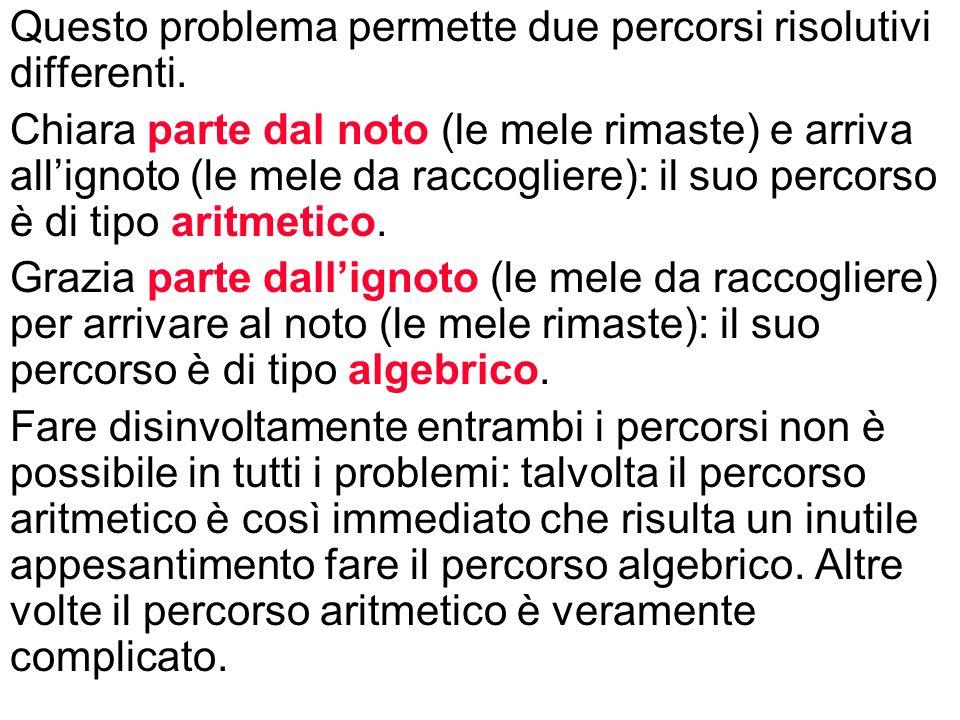 Questo problema permette due percorsi risolutivi differenti.