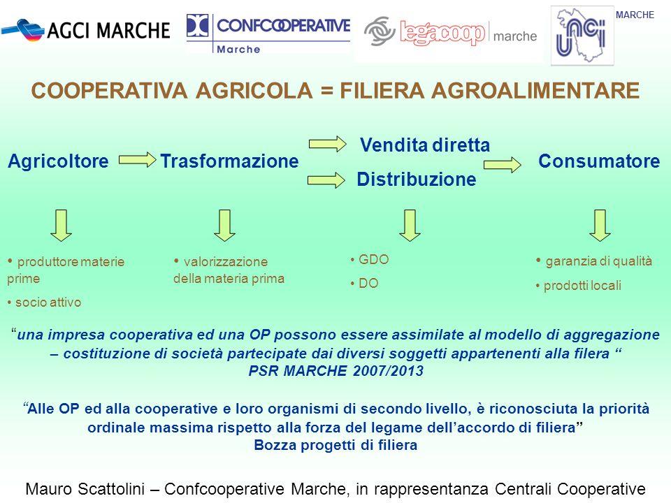 COOPERATIVA AGRICOLA = FILIERA AGROALIMENTARE