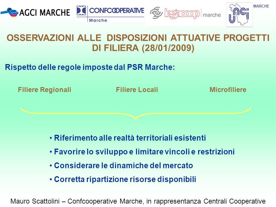 Rispetto delle regole imposte dal PSR Marche: