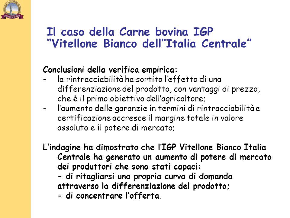 Il caso della Carne bovina IGP Vitellone Bianco dell''Italia Centrale