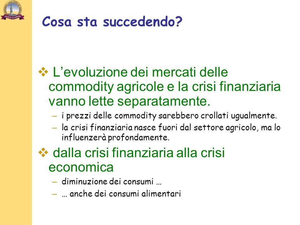 dalla crisi finanziaria alla crisi economica