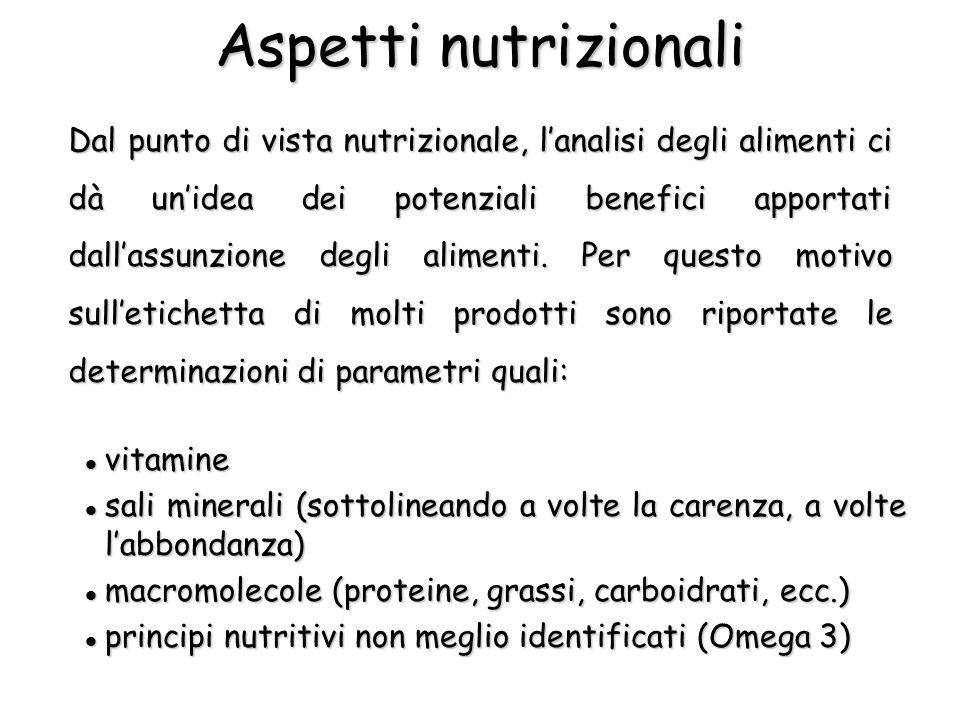 Aspetti nutrizionali