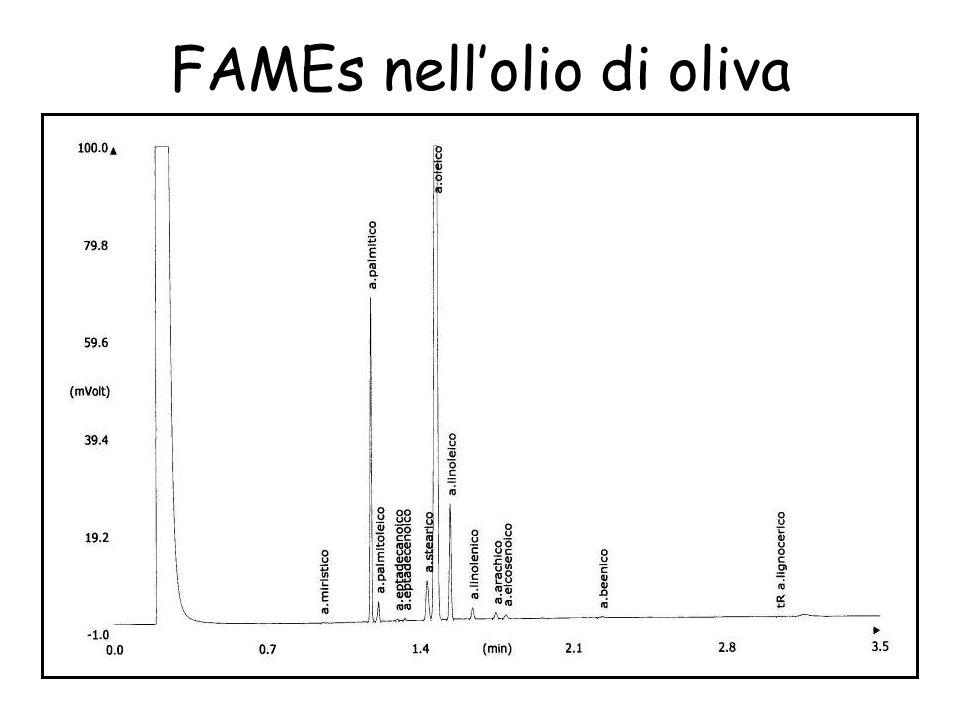 FAMEs nell'olio di oliva