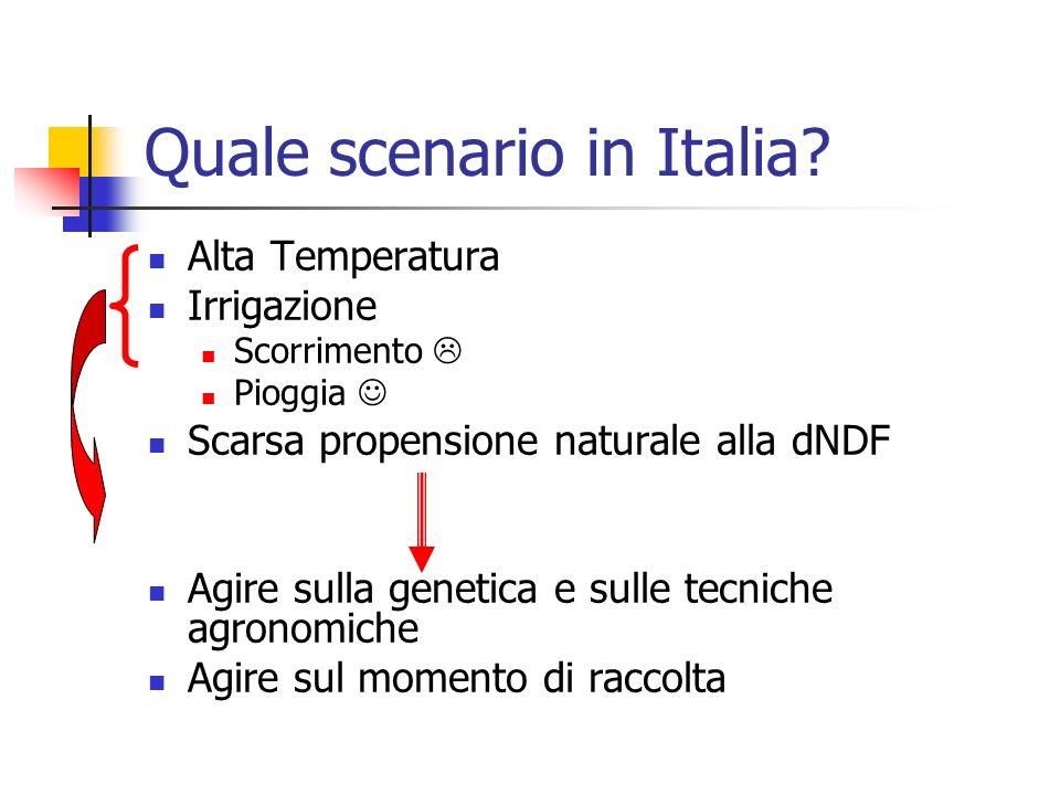Quale scenario in Italia