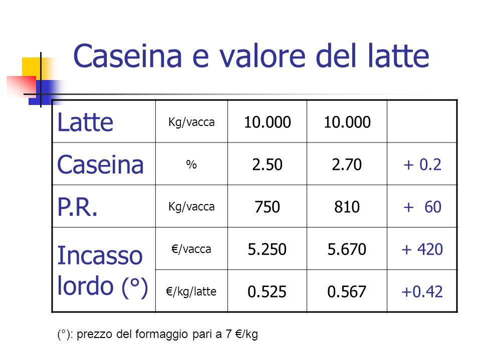 Caseina e valore del latte
