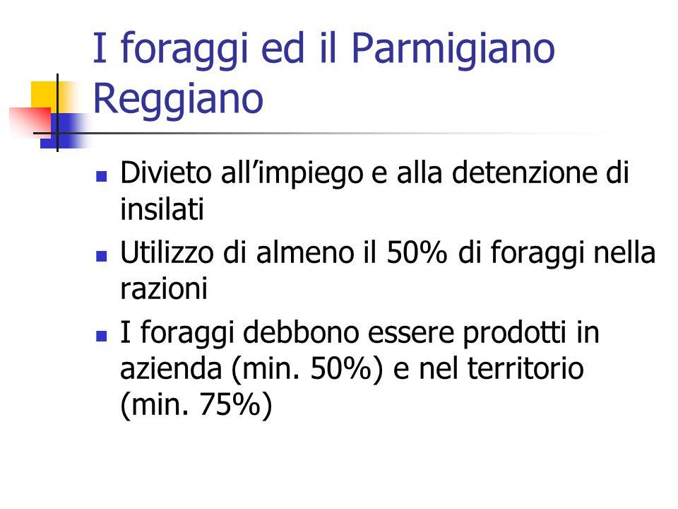 I foraggi ed il Parmigiano Reggiano