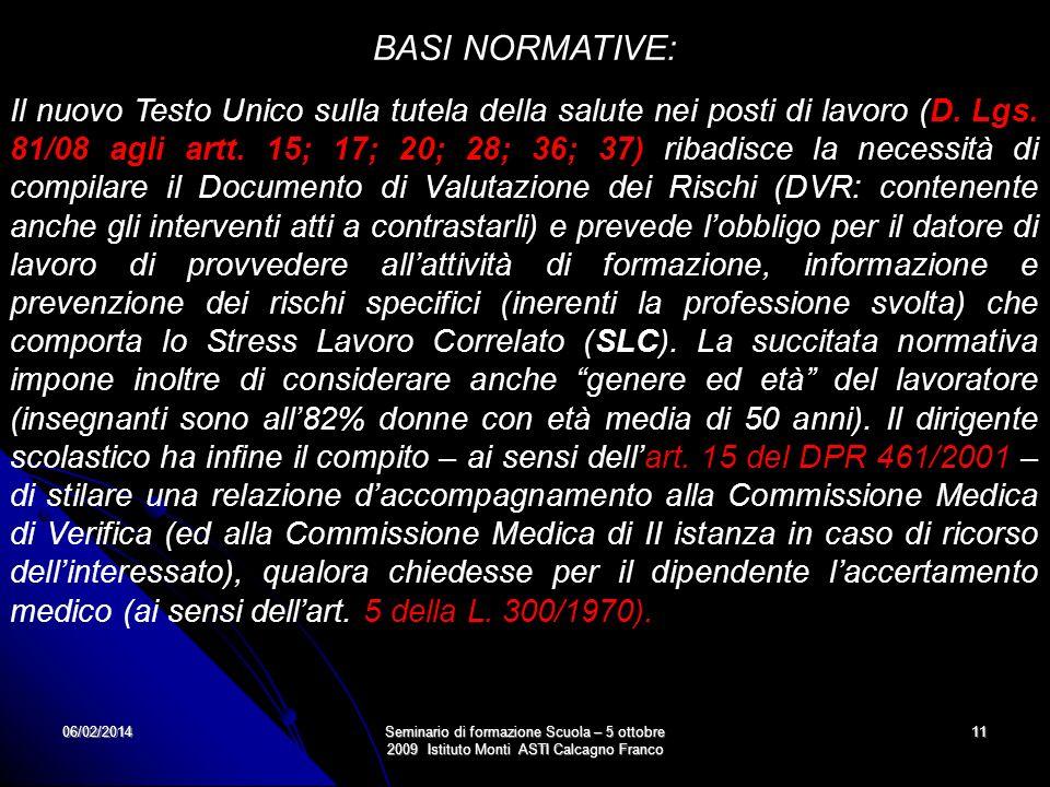 BASI NORMATIVE: