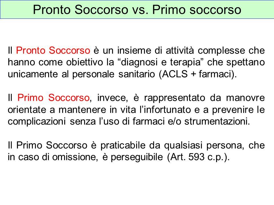 Pronto Soccorso vs. Primo soccorso