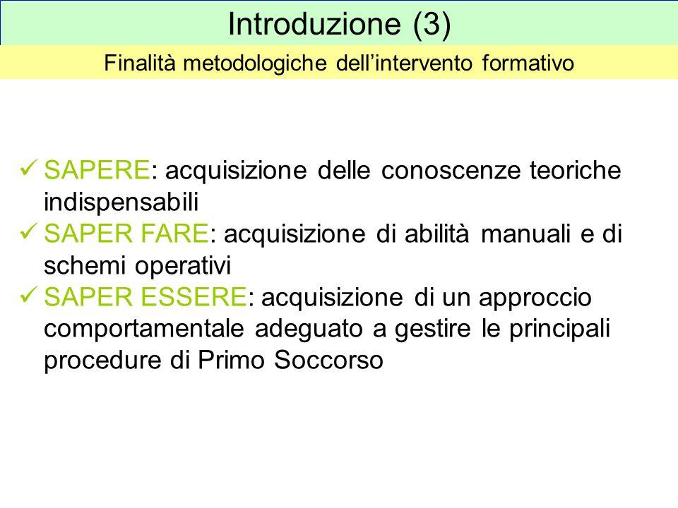 Finalità metodologiche dell'intervento formativo