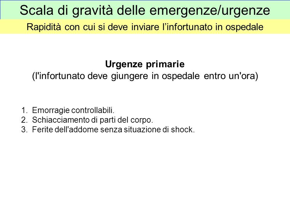 Scala di gravità delle emergenze/urgenze