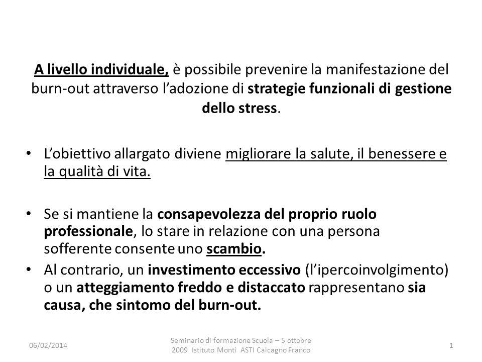 A livello individuale, è possibile prevenire la manifestazione del burn-out attraverso l'adozione di strategie funzionali di gestione dello stress.