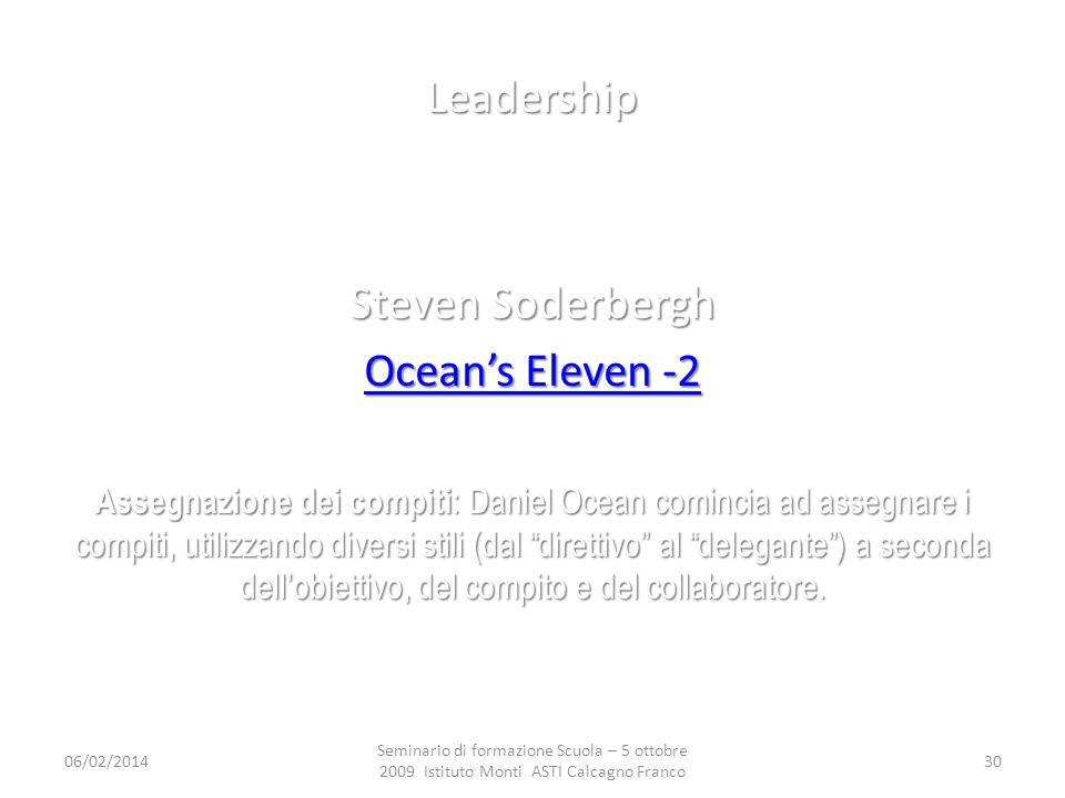Leadership Steven Soderbergh Ocean's Eleven -2