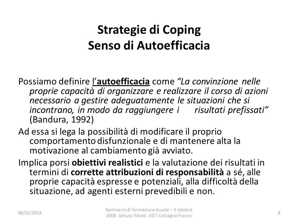 Strategie di Coping Senso di Autoefficacia