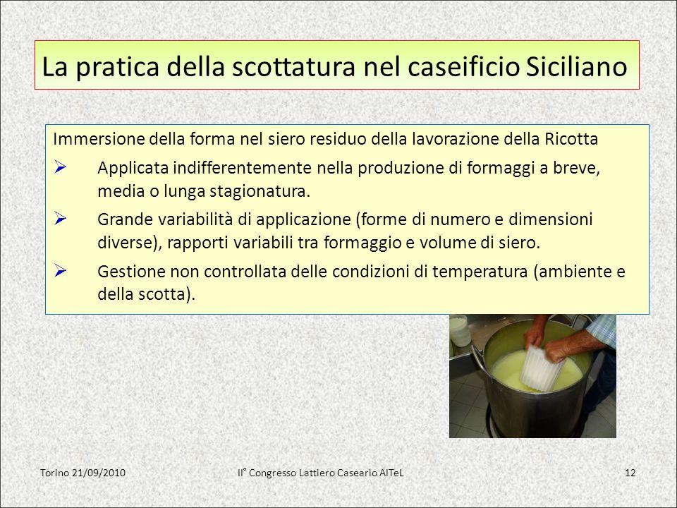 La pratica della scottatura nel caseificio Siciliano