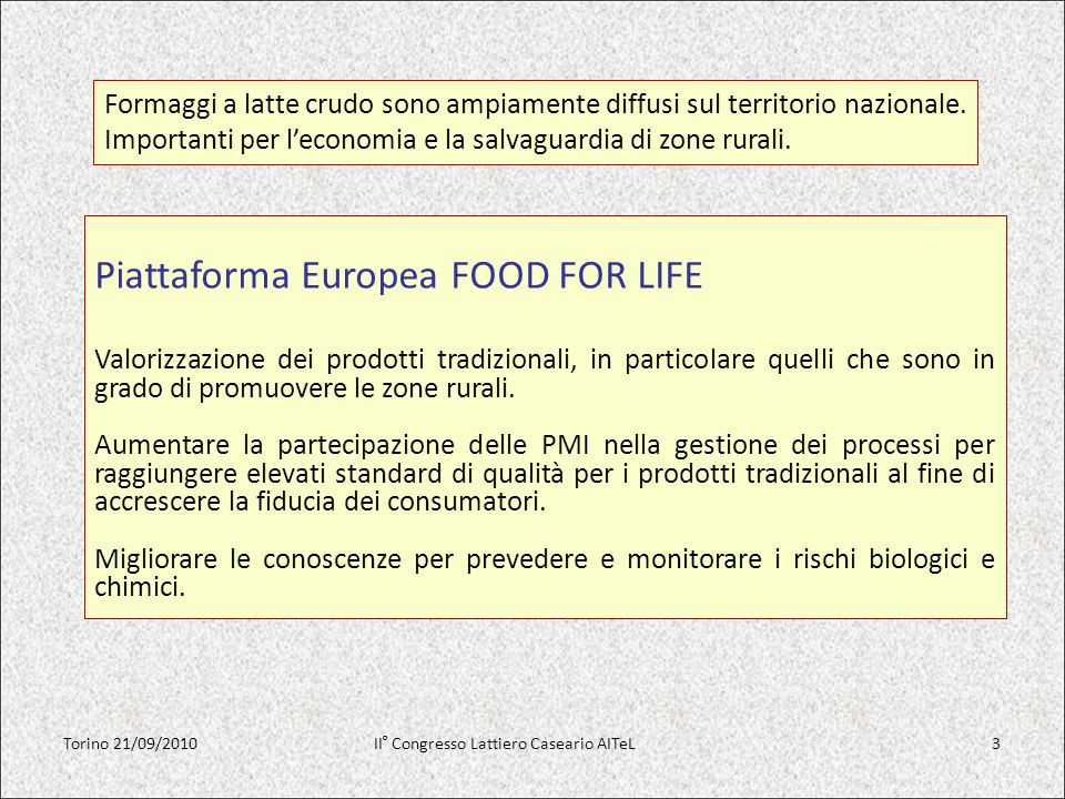Piattaforma Europea FOOD FOR LIFE