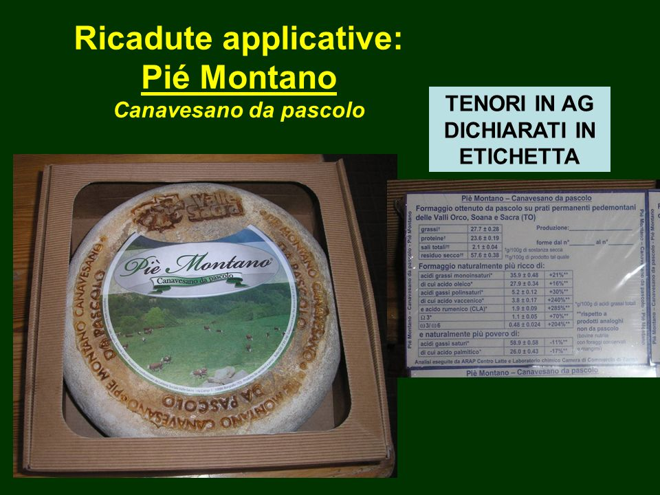Ricadute applicative: Pié Montano Canavesano da pascolo