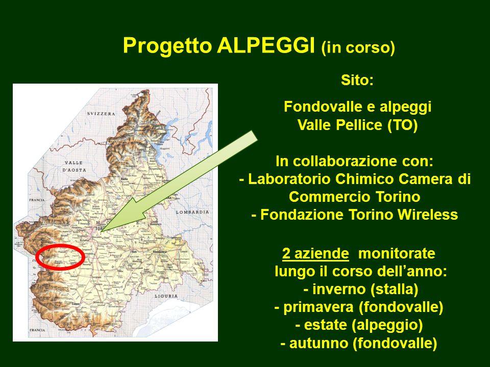 Progetto ALPEGGI (in corso) Fondovalle e alpeggi Valle Pellice (TO)