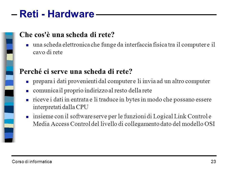 Reti - Hardware Che cos è una scheda di rete