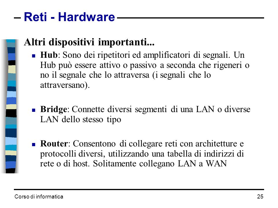 Reti - Hardware Altri dispositivi importanti...