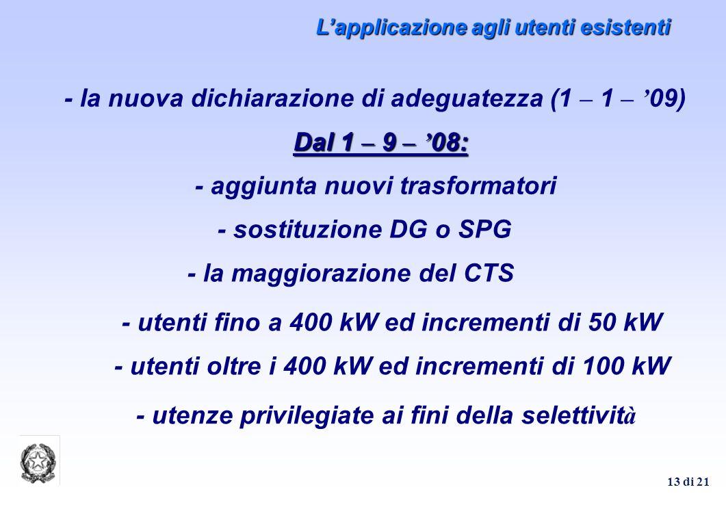 - la nuova dichiarazione di adeguatezza (1 – 1 – '09)