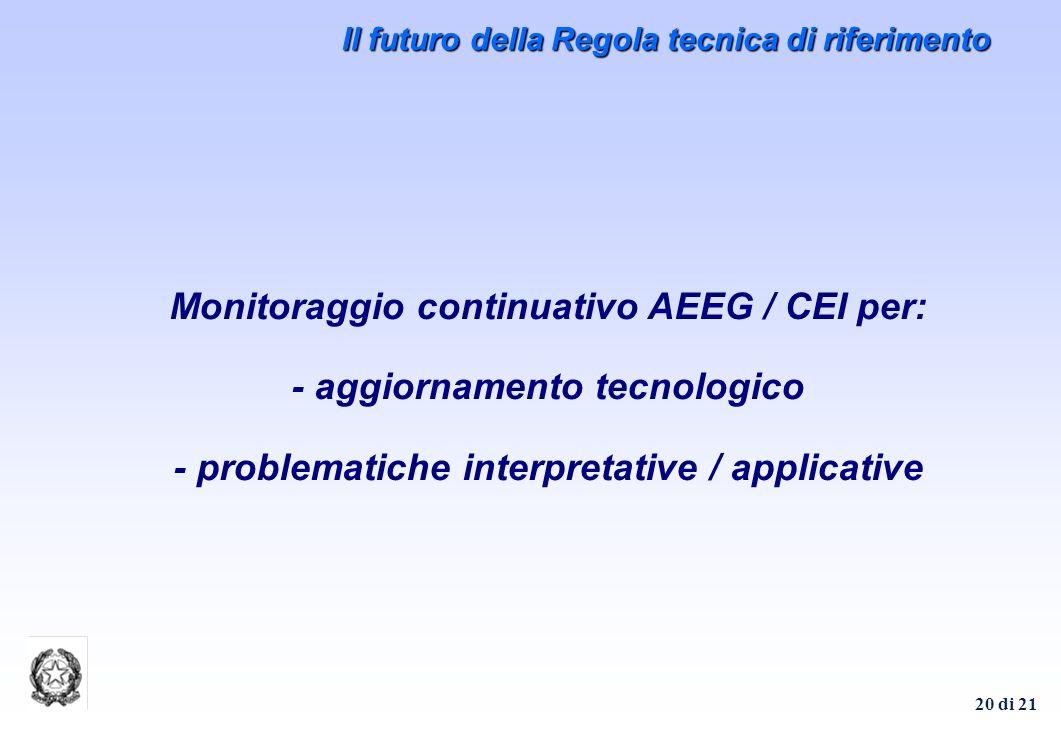 Il futuro della Regola tecnica di riferimento