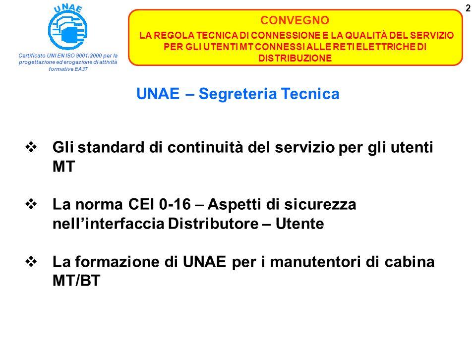 UNAE – Segreteria Tecnica