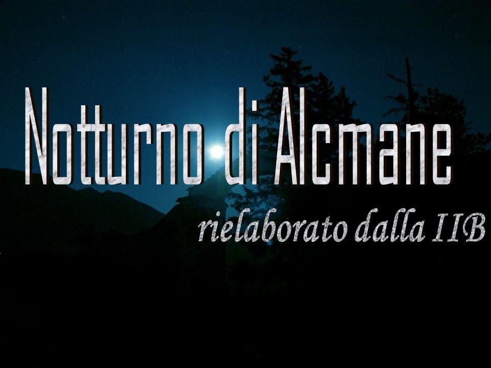Notturno di Alcmane rielaborato dalla IIB