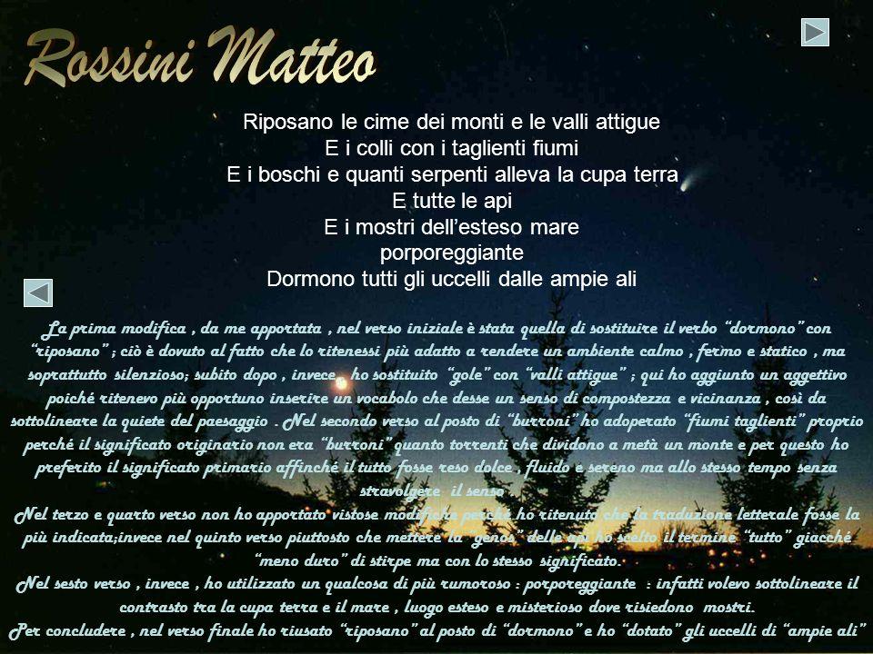 Rossini Matteo Riposano le cime dei monti e le valli attigue