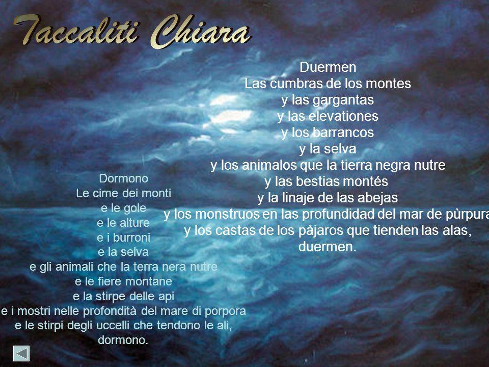 Taccaliti Chiara Duermen Las cumbras de los montes y las gargantas