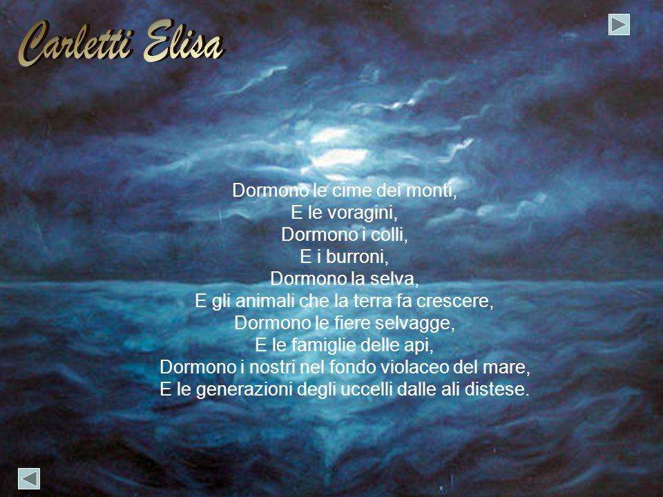 Carletti Elisa Dormono le cime dei monti, E le voragini,