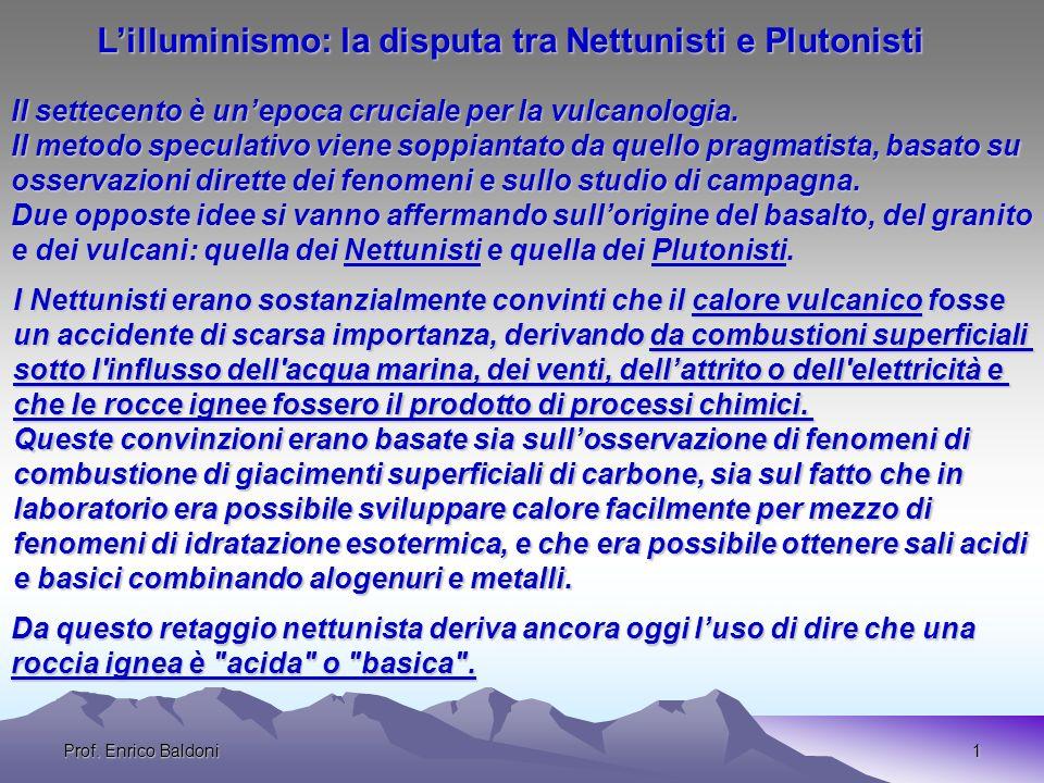 L'illuminismo: la disputa tra Nettunisti e Plutonisti
