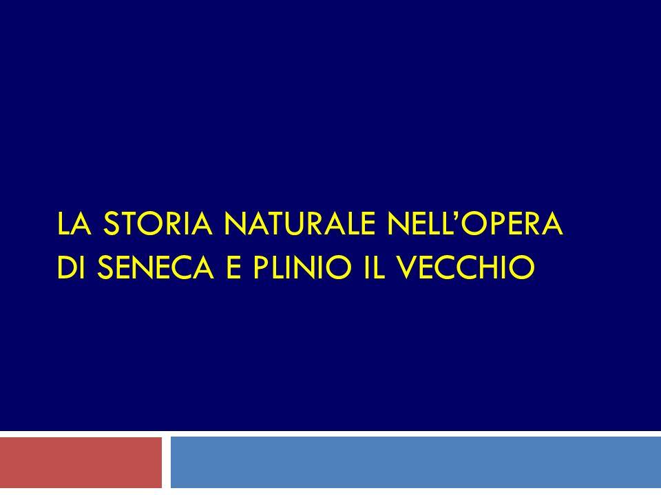 La storia naturale nell'opera di Seneca e Plinio il Vecchio