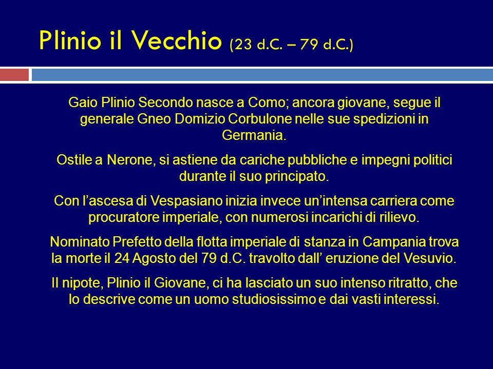 Plinio il Vecchio (23 d.C. – 79 d.C.)