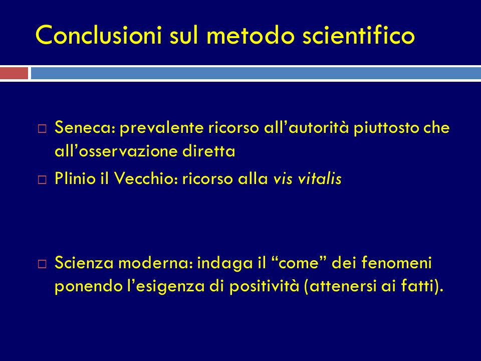 Conclusioni sul metodo scientifico