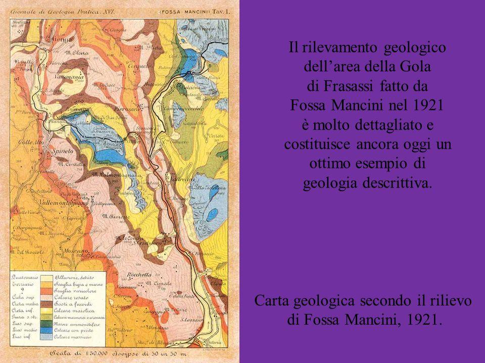 Il rilevamento geologico dell'area della Gola di Frasassi fatto da
