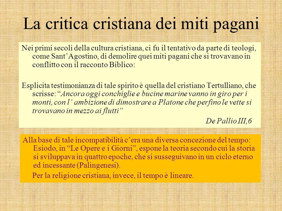 La critica cristiana dei miti pagani