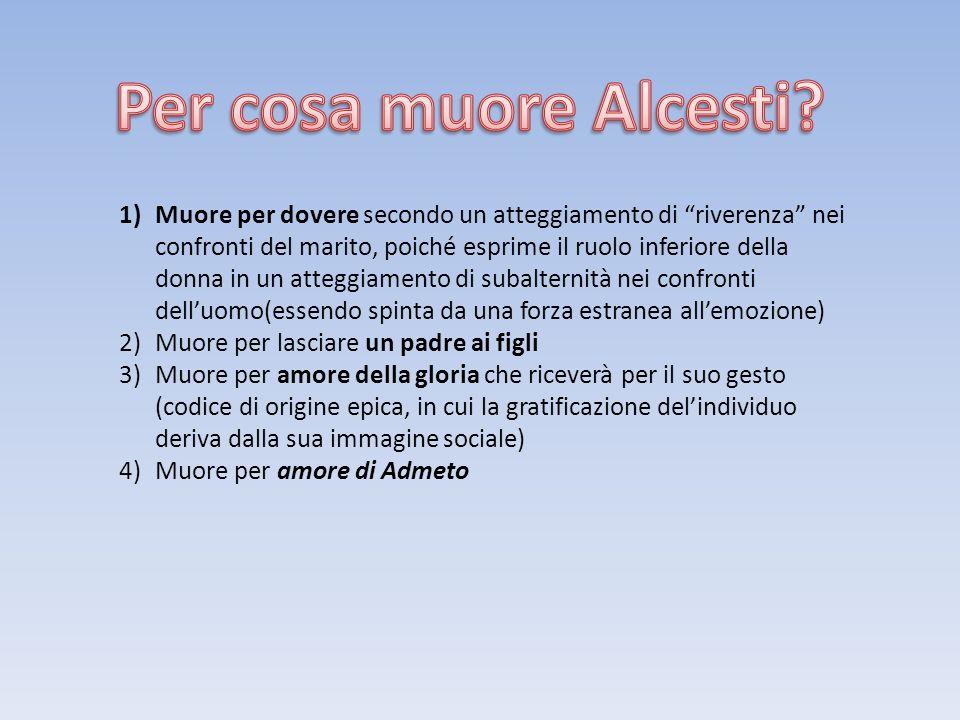 Per cosa muore Alcesti