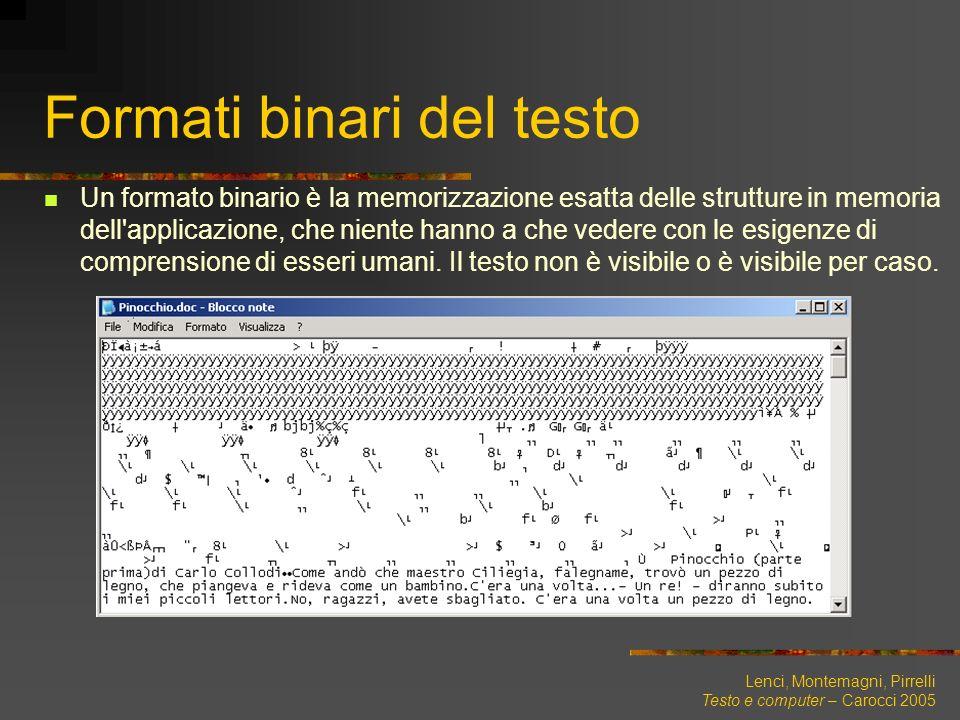 Formati binari del testo