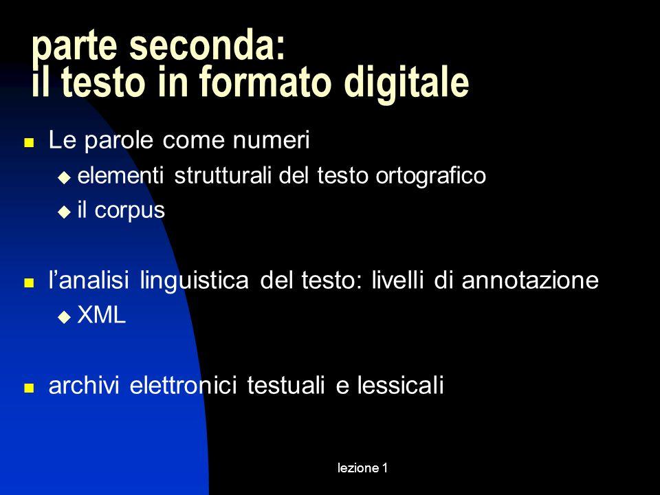 parte seconda: il testo in formato digitale