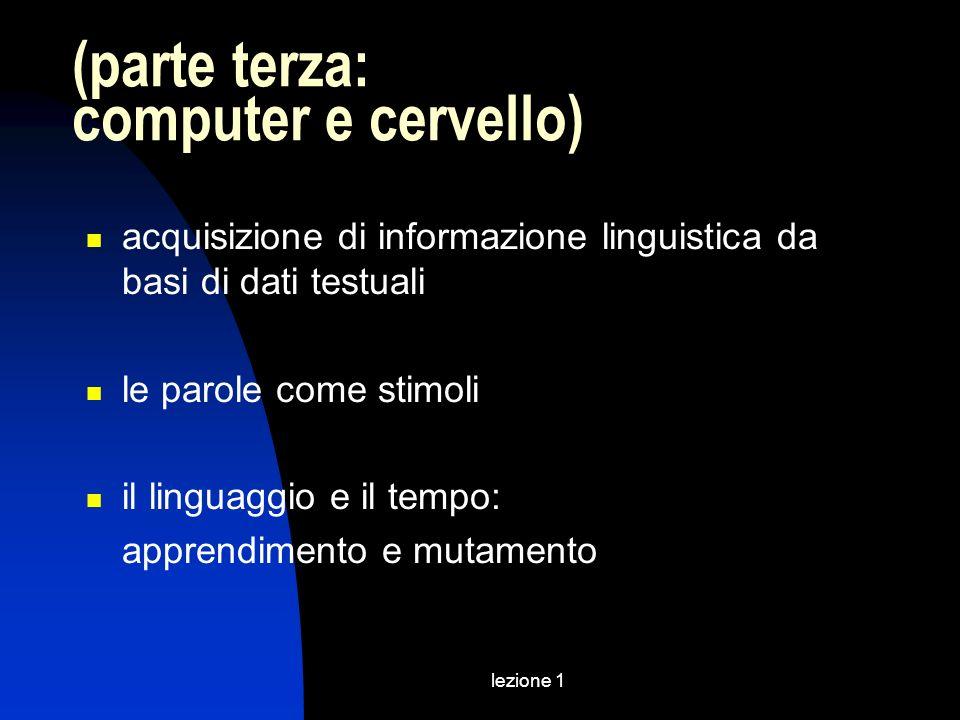 (parte terza: computer e cervello)