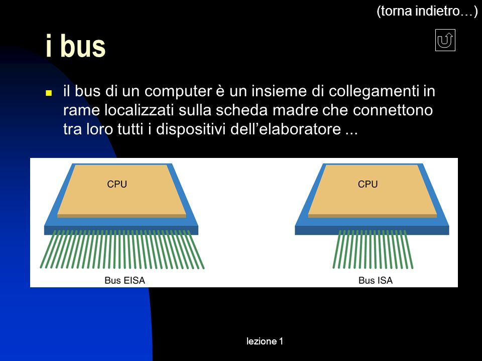(torna indietro…) i bus.