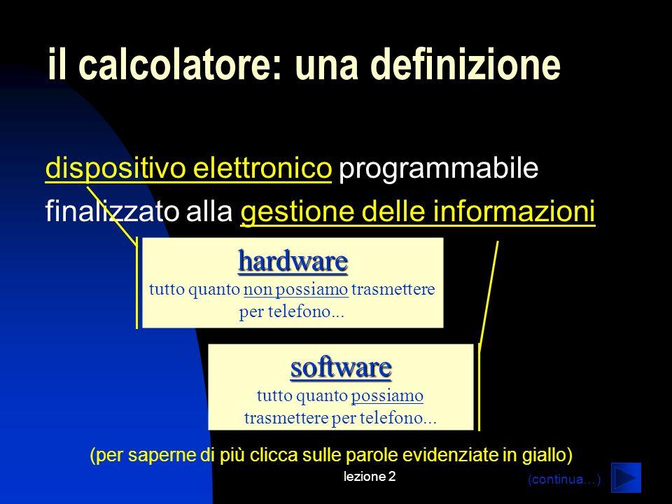 il calcolatore: una definizione