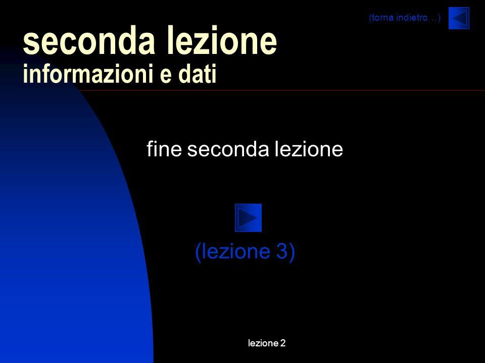 seconda lezione informazioni e dati
