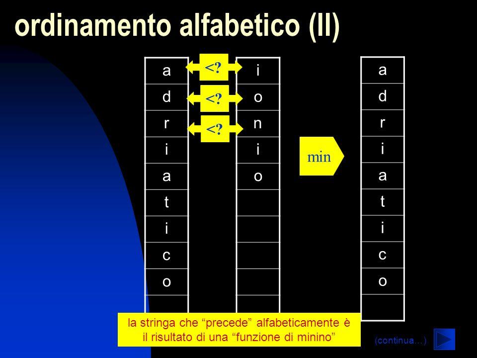 ordinamento alfabetico (II)