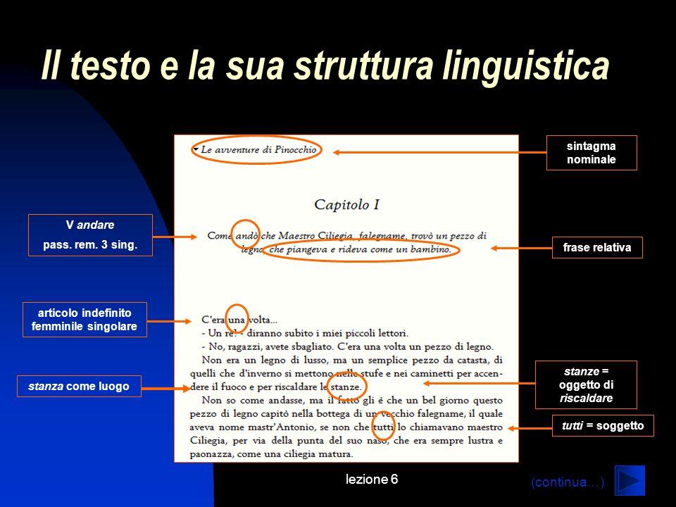 Il testo e la sua struttura linguistica