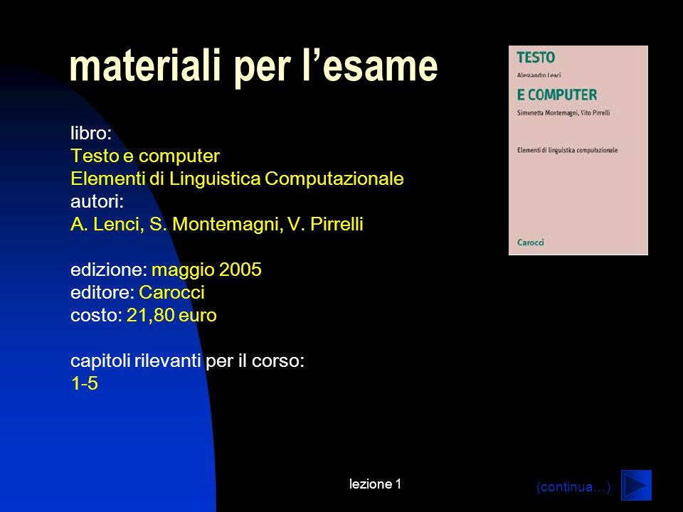 materiali per l'esame libro: Testo e computer